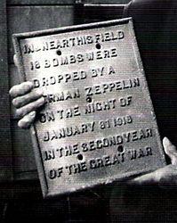 Zepplin Raid, Netherton, c 1915.