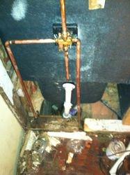 Tub and plumbing