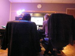 Van and Jeff working hard.