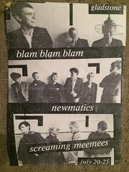 Blam Blam Blam + Newmatics + Screaming Mee Mees