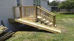 Porch with Dog ramp