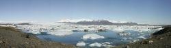 Panorama gletsjermeer