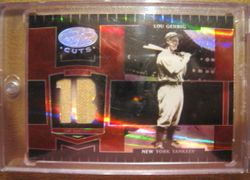 Lou Gehrig 2004 Donruss Playoff  Leaf Certified Cuts Game Used Pants Card