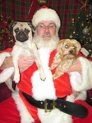 Frank, Santa and Dexter