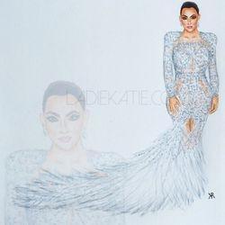 Kim Kardashian West Copic Illustration