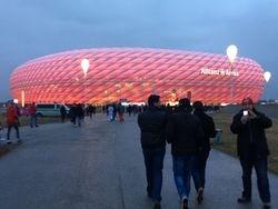 Walking up to Allianz Arena