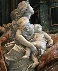 "Bernini, Tomb of Alexander VII, ""Faith"", St. Peters"