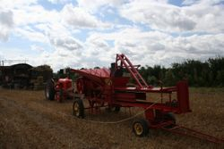 Case tractor and baler