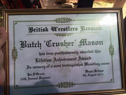 Butch Masons award