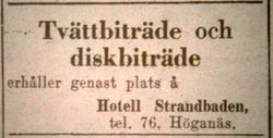 Hotell Strandbaden 1946