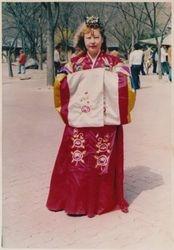 My Mom in Korea - national wedding dress