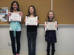 Grade 4,5 Winners April, 2013