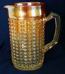 Waffle Block water pitcher - marigold