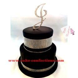 Black and Bling Cake
