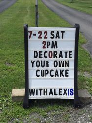 Decorate your own cupcake with Alexis