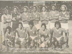 Campeao do Torneio Centro-Oeste de 1981