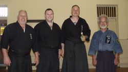 Scottish Fighting Arts Society Founder and Technical Advisors with our Newly Appointed Patron - Fujii Okimitsu Sensei