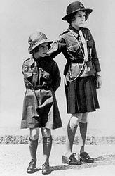 Princesses Elizabeth and Margaret in uniform