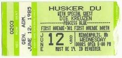 1st Avenue, Minneapolis, MN stub 1986-06-12