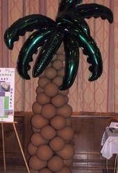 Palm Tree Balloon Sculpture Column