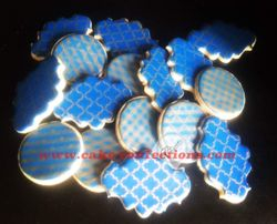 Blue and Gold Cookies