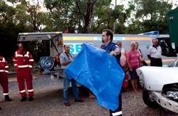 MICA Paramedic Jason at Badger Creek CFA Community event