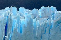 The ice of the Perito Moreno glacier.