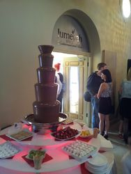 Jumeiah spice opening day chocolate fountain hire Sheffield
