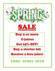 Spring E-vape Specials