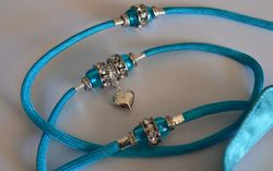 Light Blue with heart dangle!