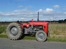 Massey Ferguson 35X on the roadrun