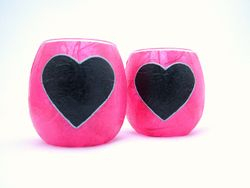 Shocking Pink and Black Country Heart