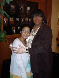 Our President Valarie with Sade
