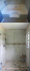Master bath tile shower