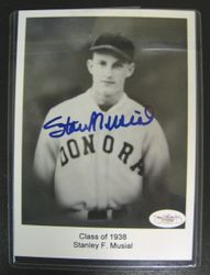 1938 Stan Musial Donora High School Autographed Picture