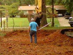 Borden Grading preparing the lot
