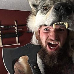 Ulfhednar headdress warrior