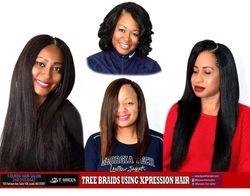 Tqueen Tree Braids using Xpression Hair