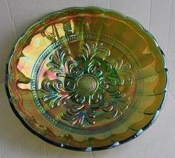 Mayan bowl in green