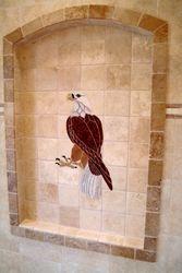 Tile Eagle Mural