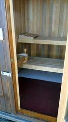 Inside of the sauna