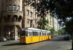 A Ganz Tram on Balassi Balint Utca