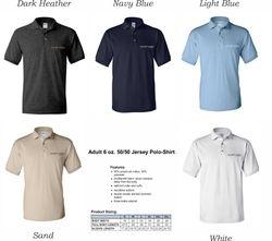 Polo-Shirts, 50/50 DryBlend Fabric | Uni-Sex Sizing | Silk-Screen Logo