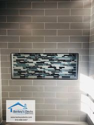 New tile tub surround with custom niche