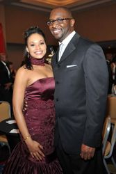 Producer Roger Bobb & Demetria Mckinney At The 25th Anniversary UNCF Mayor's Masked Ball