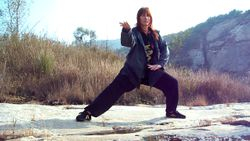 Tai Chi Practice in Autumn