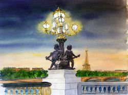 Pont Alexandre at Dusk, Paris