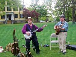 Allen Hopkins and Jim at Granger Homestead