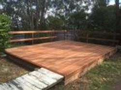 Deck with Post and Rail Handrails