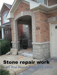 Stone step repairs